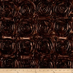 Wedding Rosette Satin Brown Fabric