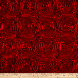 Wedding Rosette Satin Red Fabric