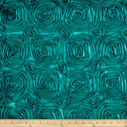 Wedding Rosette Satin Jade Fabric