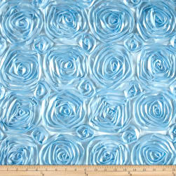 Wedding Rosette Satin Baby Blue Fabric
