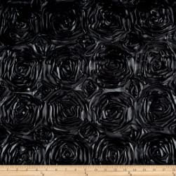 Wedding Rosette Satin Charcoal Fabric