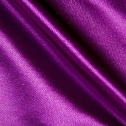 Shantung Sateen Jewel Purple Fabric