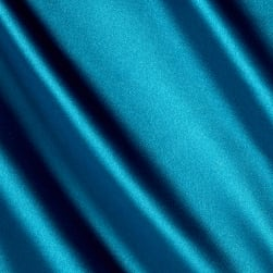 Stretch Charmeuse Teal Fabric