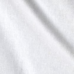 Rayon Linen Blend White Fabric