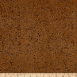 Bijoux Faux Leather Textured Tan Fabric