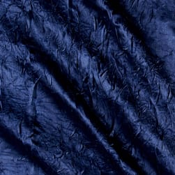 Crush Bichon Charmeuse Solid Navy Fabric