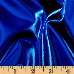 Foil Lame Knit Spandex Royal