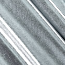 Foil Lame Knit Spandex Silver Fabric