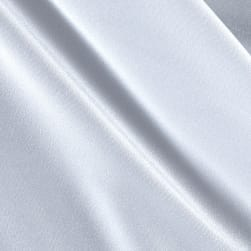 Activewear Spandex Knit Solid White Fabric