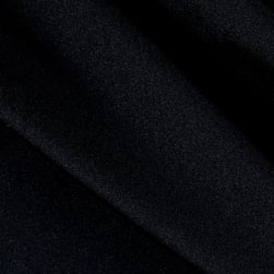 Activewear Spandex Knit Solid Black Fabric