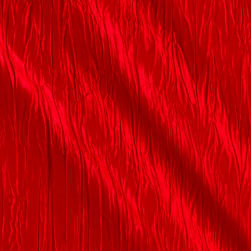 Creased Taffeta Red Fabric