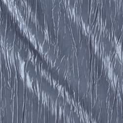 Creased Taffeta Silver Fabric