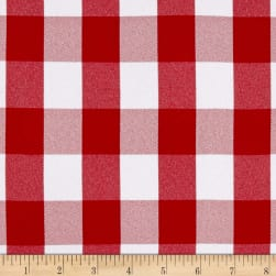 Picnic Gingham Yarn-Dyed Red/White Fabric