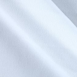 Double Knit Solid White Fabric