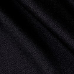 Double Knit Solid Black Fabric
