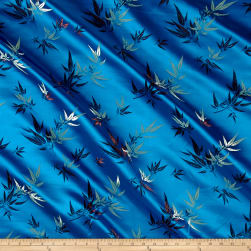 Chinese Brocade Sateen Bamboo Turquoise