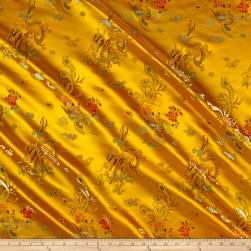 Chinese Brocade Sateen Dragon Gold Fabric