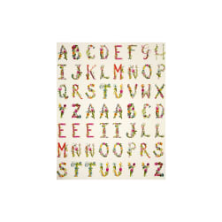 Art Gallery Joie de Vivre Joyeux 34 In. Alphabet Panel Fabric