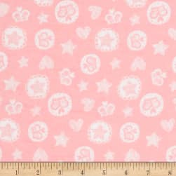 Comfy Flannel Crowns & Stars Pink