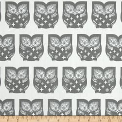 Art Gallery Heartland Hus Hoot Gra Fabric