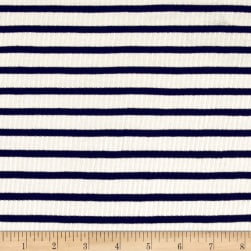 Rib Knit Stripe Ivory/Navy