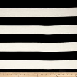 Fringe Jersey Knit Stripe Black/Off White