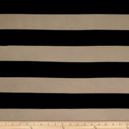 Fringe Jersey Knit Stripe Black/Sand Fabric