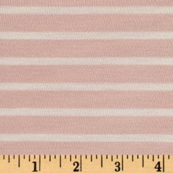 Rayon Spandex 1/2 X 1/4 Yarn Dyed Stripes Jersey Knit Blush/Ivory