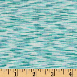 Space Dye French Terry Jersey Knit Mint Fabric