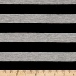 Jersey Knit Stripe Black/Heather Gray Fabric