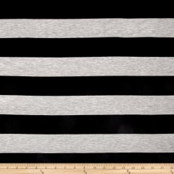 Fringe Jersey Knit Stripe Black/Heather Gray