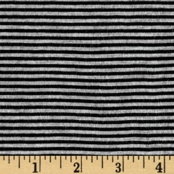 Pin Stripe Jersey Knit Heather Gray/Black Fabric