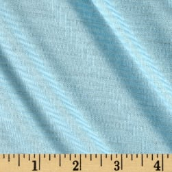 Pin Stripe Jersey Knit Aqua/White Fabric