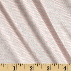 Pin Stripe Jersey Knit Blush/White Fabric