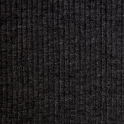 4X2 Rib Knit Dark Charcoal Fabric