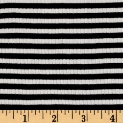 4X2 Rib Knit  Small Stripe Ivory/Navy
