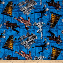 BBC Doctor Who Comics Character Toss Blue