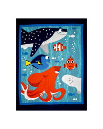 Disney Finding Dory 34 In. Panel Blue Fabric