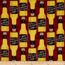 MillerCoors Genuine Draft Bottles Red Fabric