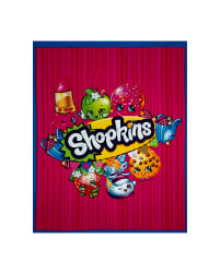 Moose Shopkins 36'' Panel Aqua Blue Fabric