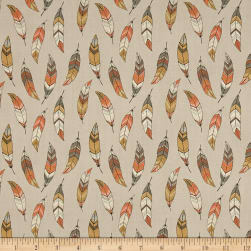 To Catch A Dream Feathers Rose Beige Fabric
