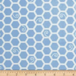 Kimberbell Little One Flannel Too! Honeycomb Blue Fabric