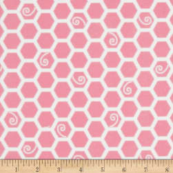 Kimberbell Little One Flannel Too! Honeycomb Pink