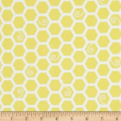 Kimberbell Little One Flannel Too! Honeycomb Sunny Yellow Fabric
