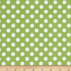 Kimberbell Little One Flannel Too! Dots Green White