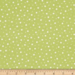 Kimberbell Little One Flannel Too! Random Dots Green/White