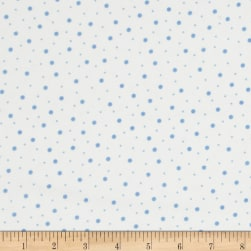 Kimberbell Little One Flannel Too! Random Dots White/Blue