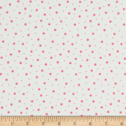 Kimberbell Little One Flannel Too! Random Dots White/Pink
