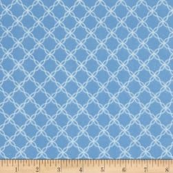 Kimberbell Little One Flannel Too! Lattice Blue