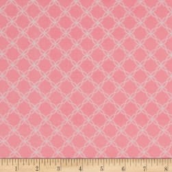 Kimberbell Little One Flannel Too! Lattice Pink Fabric